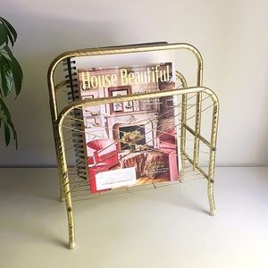 🆕 Listing!  Vintage | Small Brass Magazine Stand
